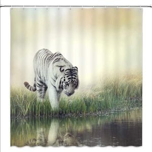 Other - White Tiger Shower Curtain